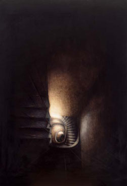 9 Rue Christine Spiral II (2002-03), Oil on Canvas, 76 x 110.5cm