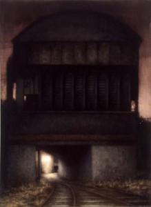 Anon Railway (2003), Oil on Canvas, 76 x 56cm