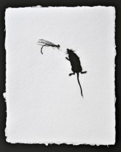 Demoiselle and Pigmy Shrew, Dry Point Engraving, Edition 6 of 6, 22 x 18cm