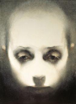 Head-Looking Down (2005-07), Oil on Canvas, on Board, 111.25 x 81.25cm