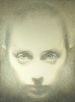Head-Head On-Pale (2007) Oil on Board, 122 x 89cm