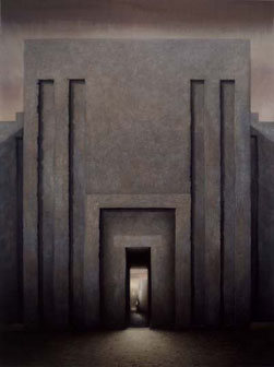 Imhotep Building (2002-03), Oil on Canvas, 261.5 x 196cm