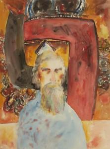 Alan Davie (1989), Watercolour, 30 x 22 inches