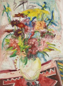 Flowers (1997), Oil on Canvas, 30 x 22 inches