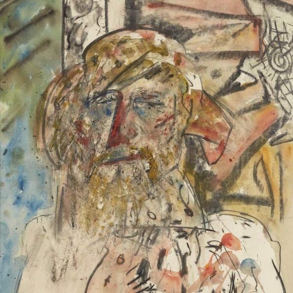Self Portrait (1982), Chalk Pastel, 30 x 22 inches