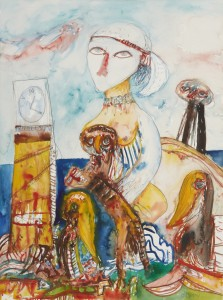 Towards the Horizon (1992), Watercolour, 30 x 22 inches