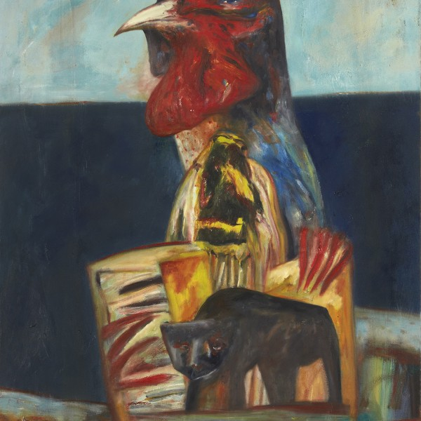 You're 35 Today John (1977), Oil on Canvas, 70.5 x 37 inches