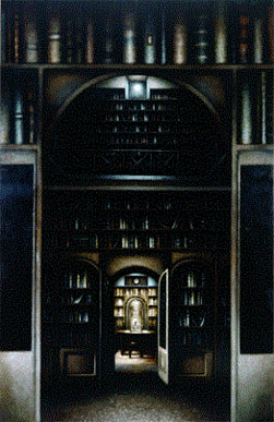 Library II (1997-2000), Oil on Board, 81 x 52.5 inches