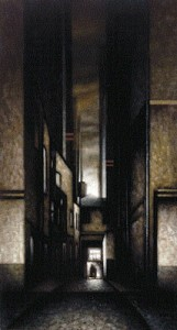 Lyme Regis (1998-99), Oil on Board, 72.75 x 39 inches