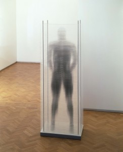 I Know You Inside Out (2001), Silver Ink on Acrylic, Edition of 6, 2 Artist's Copies, 70 x 50 x 200cm