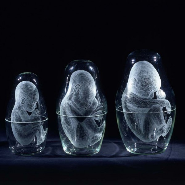 Nesting (2003), Engraved Glass (Set of 9), Edition of 6, 2 Artist's Copies, Largest - 24 x 46cm, Smallest - 1.5 x 2cm