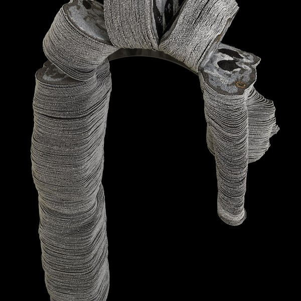 Orixa (2010), Foam Rubber, Bonded Nylon and Seed Beads, Edition of 3, H115 x W45 x D80cm