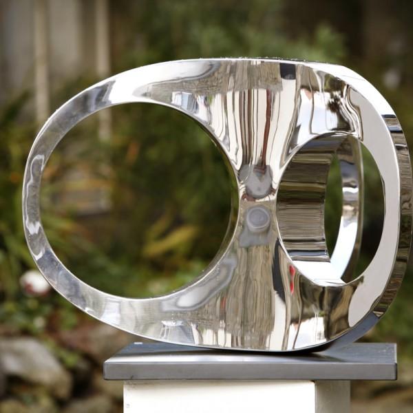 Three Point Turn (2007), Stainless Steel, Unique, H90 x W68cm