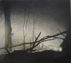 Lund, Oil on Board, 26 x 30cm
