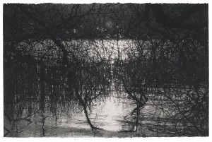 A Love as Old as Water (2014), Brown and Black Charcoal on 356gsm Saunders Waterford Paper, 66 x 101.5cm