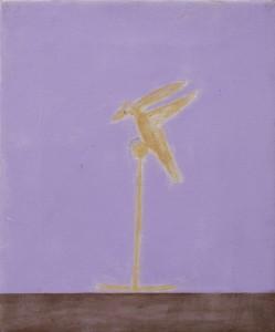 Craigie-Aitchison-Brass-bird-(Ornament)-Oil-Canvas