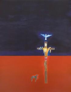 Craigie-Aitchison-Crucifixion-silkscreen