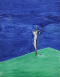 Craigie-Aitchison-Crucifixion-June-Oil-Canvas