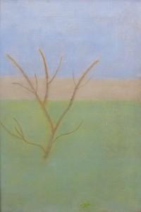 Craigie-Aitchison-Garden-at-Tulliallan-Oil-Canvas