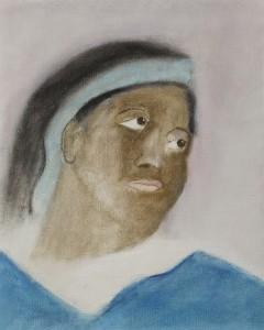 Craigie-Aitchison-Portrait-after-Delacroix-oil-canvas