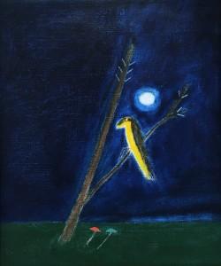 Craigie-Aitchison-Yellow-Bird-oil-on-canvas