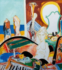 Interior Thoughts (1994), Oil on Canvas, 80 x 70 inches