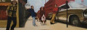 Ray-Richardson-You-do-the-okey-cokey-oil-on-canvas